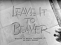 TV show Leave It To Beaver logo